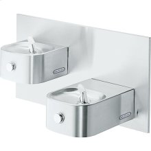 Elkay Soft Sides Bi-Level Fountain Non-Filtered Non-Refrigerated, Stainless