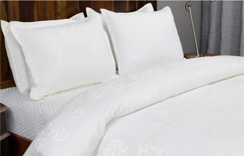 Francis Jacquard White 3Pc King Set