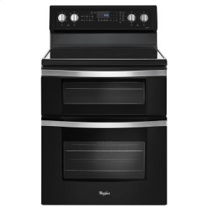 6.7 Cu. Ft. Electric Double Oven Range with True Convection - BLACK ICE