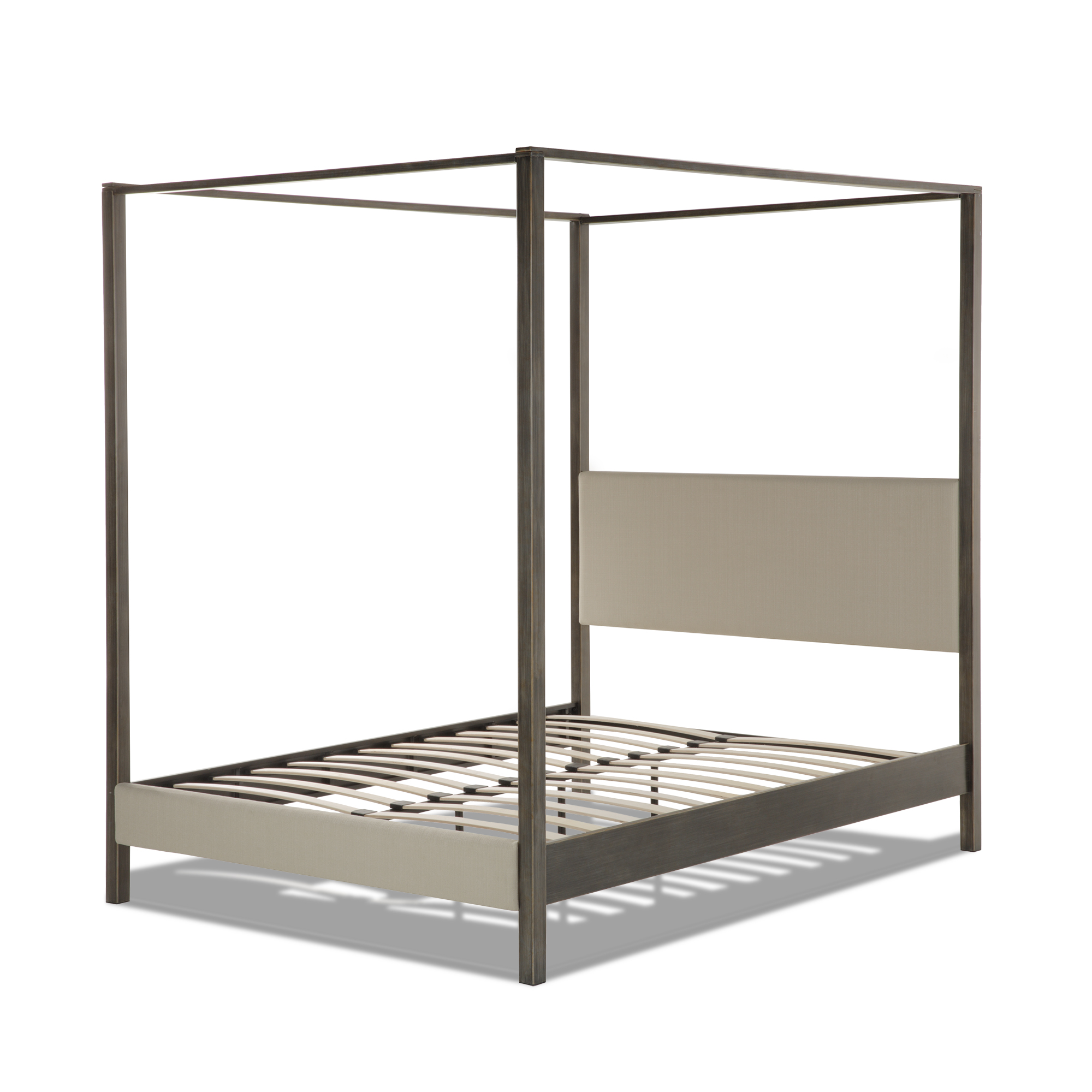 Avalon Complete Metal Canopy Platform Bed and Bedding Support System with Platinum Upholstery and 80-  sc 1 st  Design Center Furniture & B71625 in by Fashion Bed Group in Orange CA - Avalon Complete Metal ...