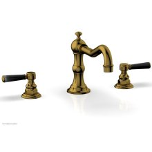 HENRI Deck Tub Set - Marble Lever Handles - 161-42 - French Brass