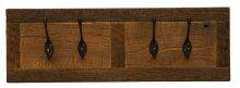 """Barnwood Wall Coat Rack - 24"""" with 4 Pegs"""