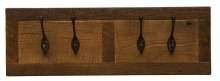"Barnwood Wall Coat Rack - 24"" with 4 Pegs"