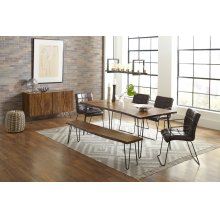 """Nature's Edge 79"""" Dining Table With 4 Dawson Chairs"""