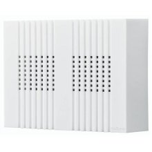"""Decorative Wired Door Chime, 8""""w x 6""""h x 2-1/4""""d, in White"""