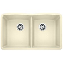 Blanco Diamond Equal Double Bowl - Biscuit