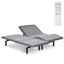 Caliber Low-Profile Adjustable Bed Base with Simultaneous Movement, Flint Onyx Finish, Split King