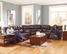 KENNARD - BURGUNDY COLLECTION LEATHER SECTIONAL Product Image