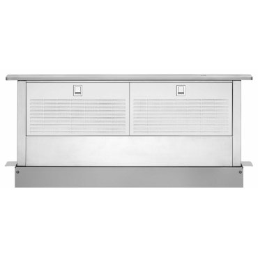 """36"""" Retractable Downdraft System with Interior Blower Motor - Stainless Steel"""