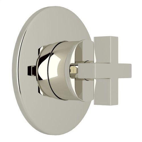 Polished Nickel Pirellone 4-Port, 3-Way Diverter Trim Only with Cross Handle