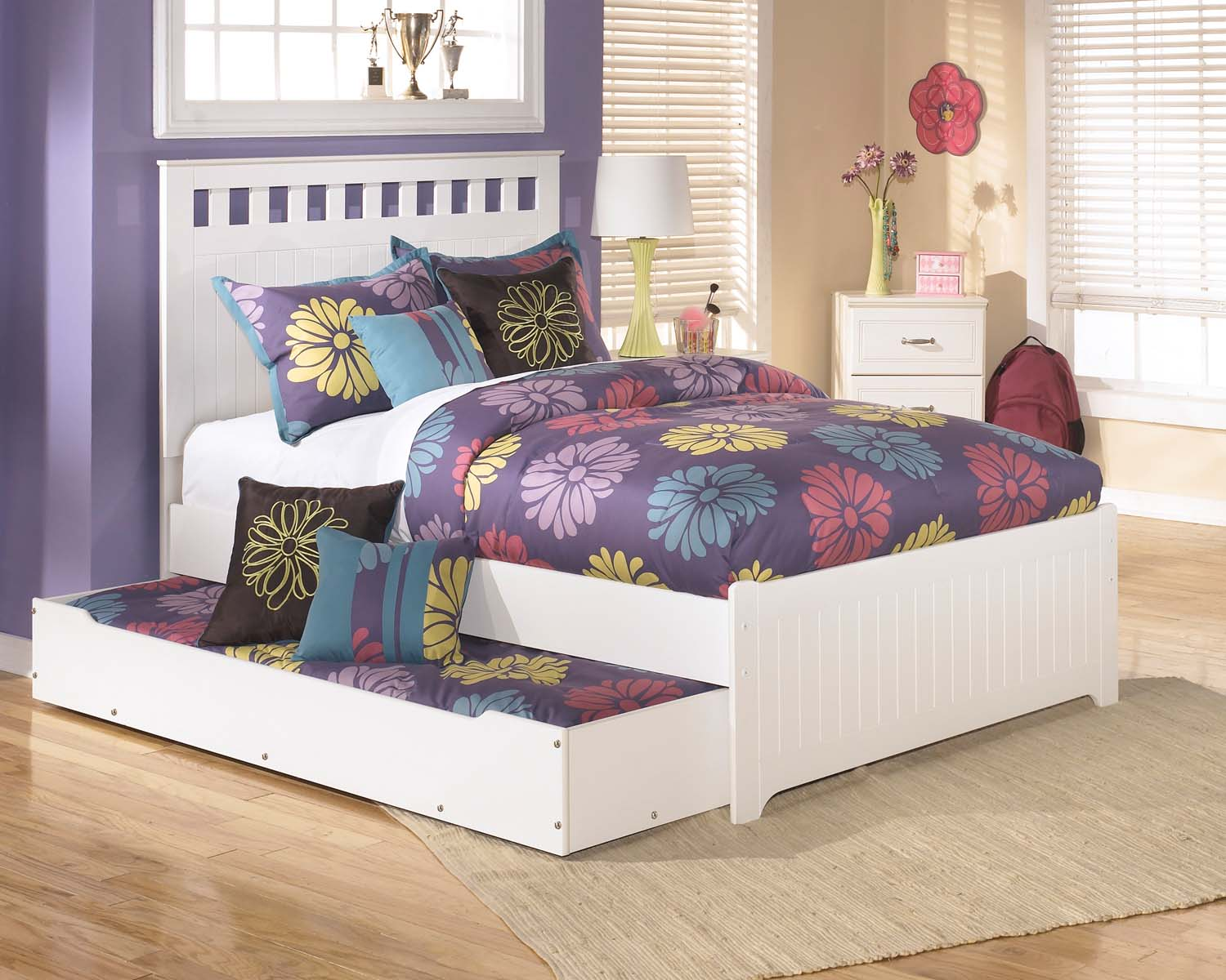 Bon Lulu   White 3 Piece Bed Set (Full)