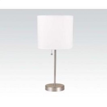 Table Lamp W/white Shade