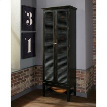 Transitional Rustic Brown Wine Cabinet