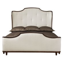 King-Sized Miramont Upholstered Panel Bed in Dark Sable (360)