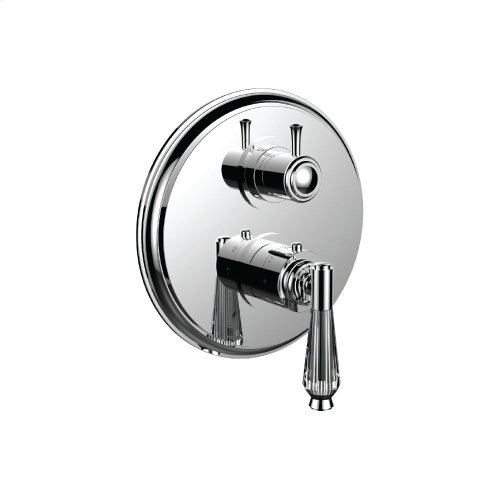 """7098hc-tm - 1/2"""" Thermostatic Trim With 3-way Diverter Trim (shared Function) in Polished Nickel"""