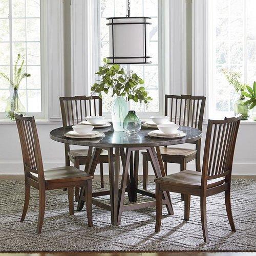 "Custom Dining 48"" Copper Table w/Atlas Base"