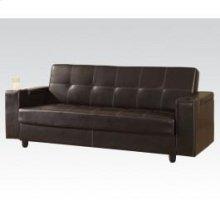 Brown Pu Adjustable Sofa