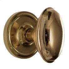 Nostalgic - Single Dummy Knob - Classic Rosette with Homestead Knob in Unlacquered Brass