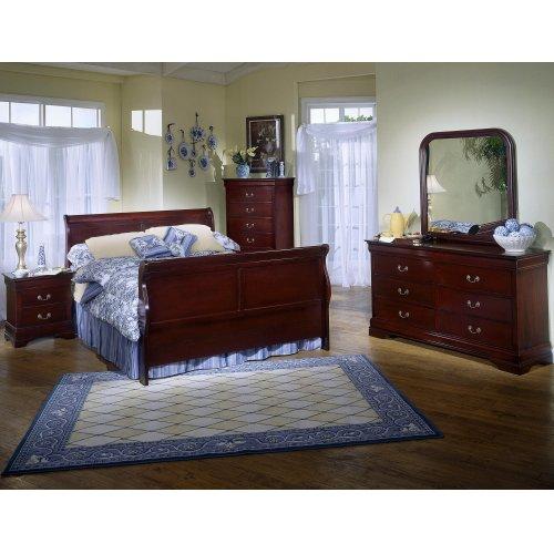 5933 Classic Twin BED COMPLETE; Twin HB, FB, Rails & Slats