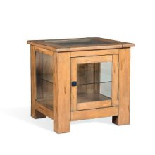 Mossy Oak Curio End Table