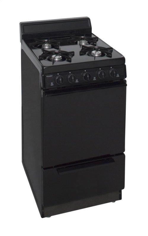 20 in. Freestanding Gas Range in Black