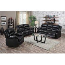 Eden Black Leather Recliner Chair