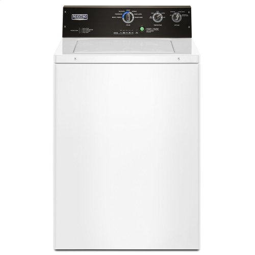 3.5 cu. ft. Commercial-Grade Residential Agitator Washer White
