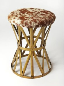Perfect paired with your favorite sofa, used for eaxtra seating or pulled up to your morning dining table, this factory-chic round stool, brings handsome rustic appeal to any aesthetic. Striking an open silhouette, this charming design is crafted from go