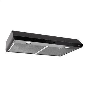 BroanBroan® 30-Inch Convertible Under-Cabinet Range Hood, 250 CFM, Black