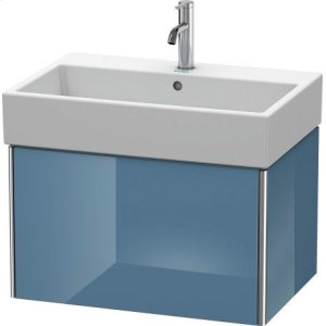 Vanity Unit Wall-mounted, Stone Blue High Gloss Lacquer