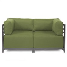Axis 2pc Sectional Seascape Moss Titanium Frame