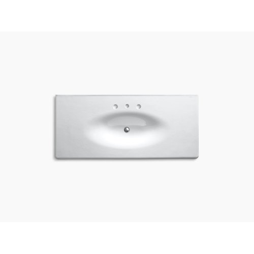 """White 49"""" Vanity-top Bathroom Sink With 8"""" Widespread Faucet Holes"""