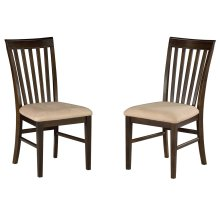Mission Dining Chairs Set of 2 with Oatmeal Cushion in Walnut