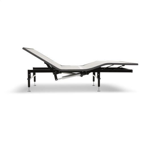 Sunrise Slim-Profile Adjustable Bed Base for Platform Beds with Wireless Remote, Charcoal Gray, Queen