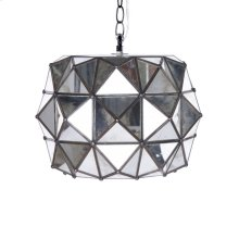 Tin & Antique Mirror Pendant. Ul Approved for 1 60w Bulb.