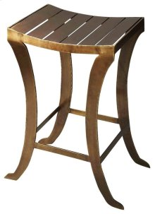 Sharply styled and skillfully handcrafted this bar stool features a lovely saddle shape seat design, which enables the body to maintain ideal posture while sitting. It has a footrest for additional comfort. This bar stool fits into several home setting an