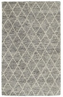 .Diamond Looped Wool Gray 2x3