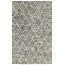 Diamond Looped Wool Gray 2x3