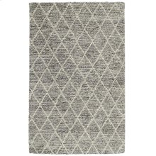 Diamond Looped Wool Gray 2x3