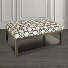 Custom Ottoman Rectangle Ottoman w/Shelf
