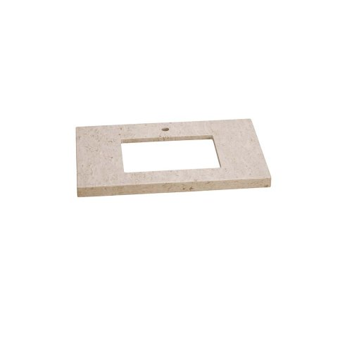 """WideAppeal™ 32"""" x 19"""" Marble Vanity Top in Cream Beige - 2"""" Thick"""