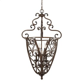 Loretto 2 Tier - 6 Light Caged Foyer in Russet Bronze with Metal candle sleeves
