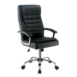 CoasterContemporary Black Faux Leather Office Chair