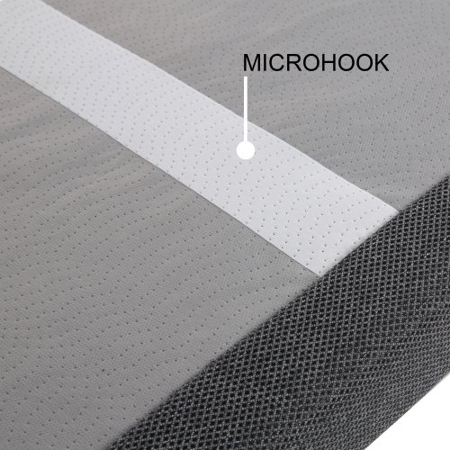 Bas-X 2.0 Low-Profile Adjustable Bed Base with Head Articulation and MicroHook Technology, Charcoal Gray, Twin XL