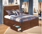 Delburne - Medium Brown 3 Piece Bed Set (Full) Product Image