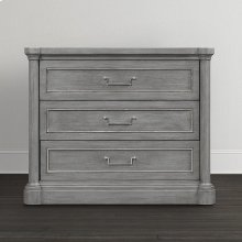 French Grey Martinique Nightstand