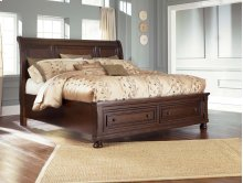 Sleigh Storage California King Bed