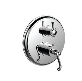 """1/2"""" Thermostatic Trim With 3-way Diverter Trim (shared Function) in Roman Bronze"""