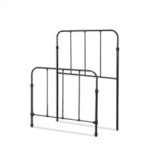 Nolan Fashion Kids Metal Headboard and Footboard Bed Panels with Fun Versatile Design, Space Black Finish, Twin