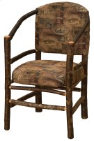 Hickory Hoop Chair with Upholstered Seat & Back - Standard Fabric Product Image